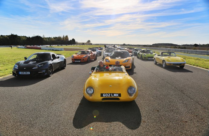 1,600 cars turn out for Lotus' 70th celebration
