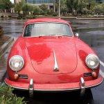 Porsche 356 iin the rain