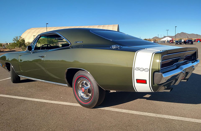 The Charger 500's paint job, including the iconic white rear stripe, made it fairly easy to spot. | Michael Laiserin
