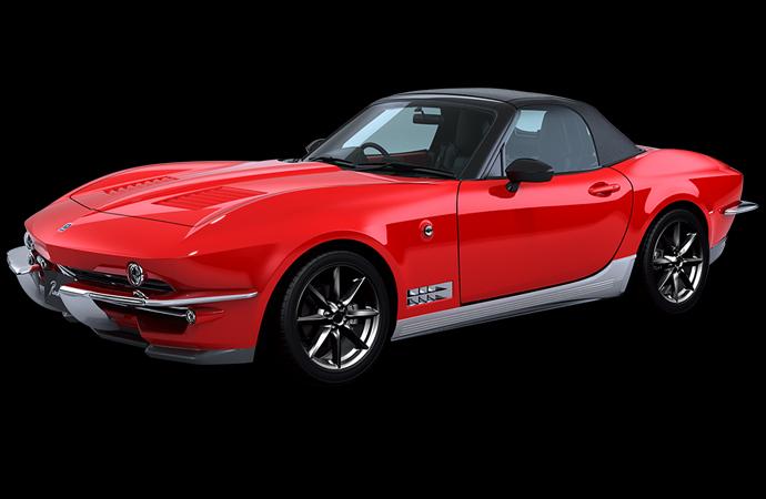 A Japanese company is building the Mazda Miata to look like the C2 Chevrolet Corvette. | Mitsuoka photo