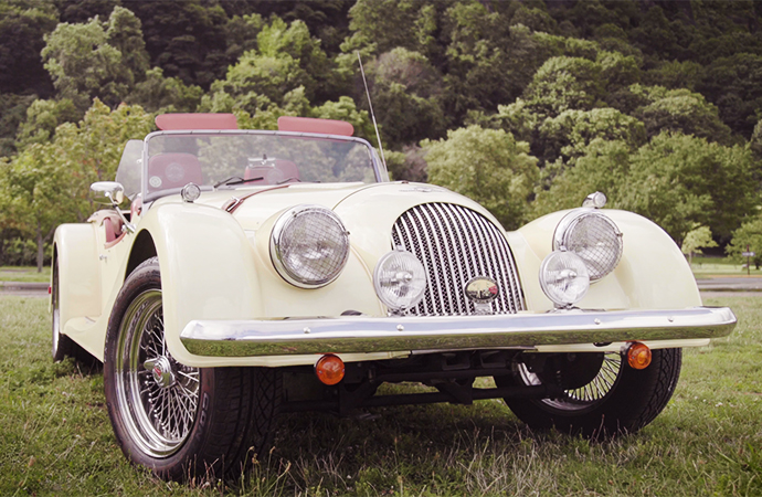 This Morris V8 roadster is one part of a first-of-its-kind lot being offered by Christie's. | The Balvenie photo