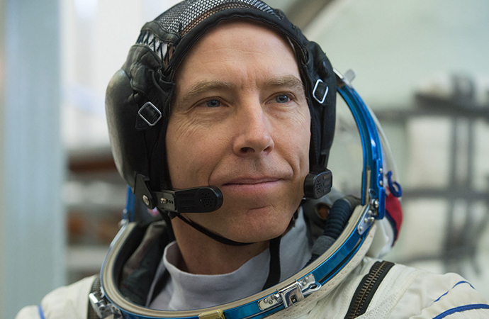 He's back from space and NASA astronaut Drew Feustal already has his eyes on the track. | NASA photo