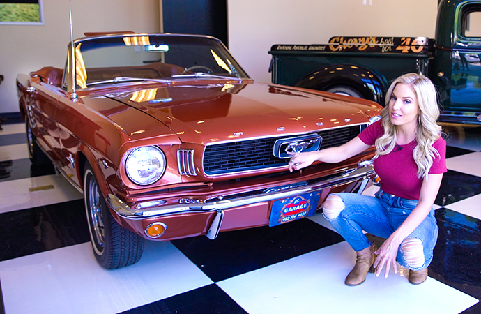 Kristen got back to the roots of the pony car with this 1966 Ford Mustang convertible. | Screenshot