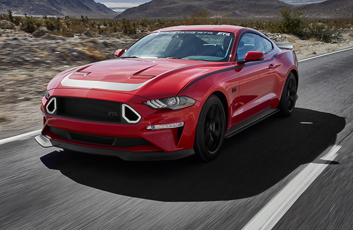 Ford took home three SEMA Show Awards on Monday night, including the Car of the Year prize for its Mustang. The show was expected to be loaded with pony cars, including this one customized by RTR. | RTR photo