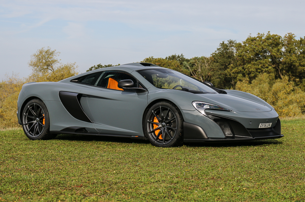 The McLaren 675 Long Tail has the highest estimated value of all the cars Kay is sending to auction. | Silverstone Auctions photo