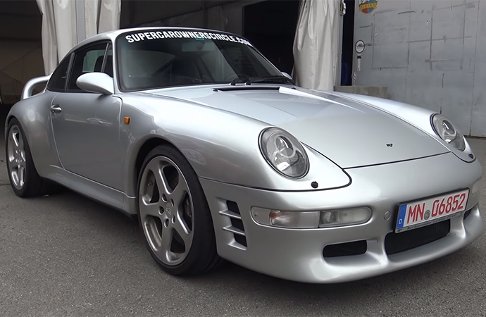 This Ruf Motorsports CTR2 based on the Porsche 993 Turbo may be more than 20 years old, but it can still fly. | Screenshot