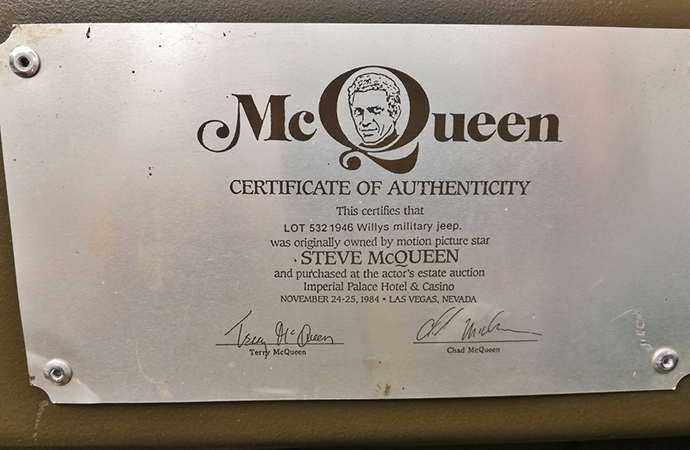 The winner will receive this certificate of authenticity. | Silverstone Auctions photo