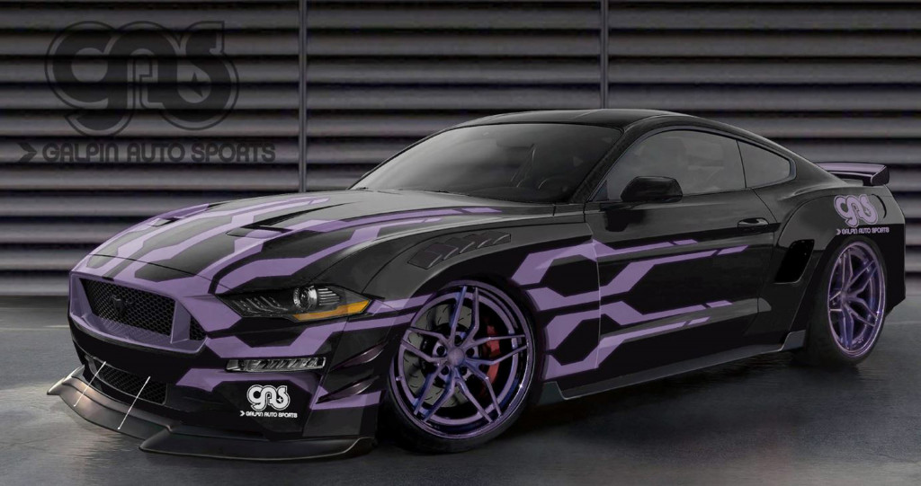 Teaser sketch for 2019 Galpin Auto Sports Ford Mustang GT debuting at 2018 SEMA show. | Ford photo