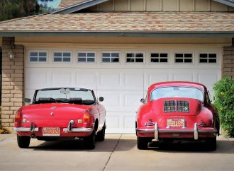 MGB, Porsche 356 compete for attention in my garage