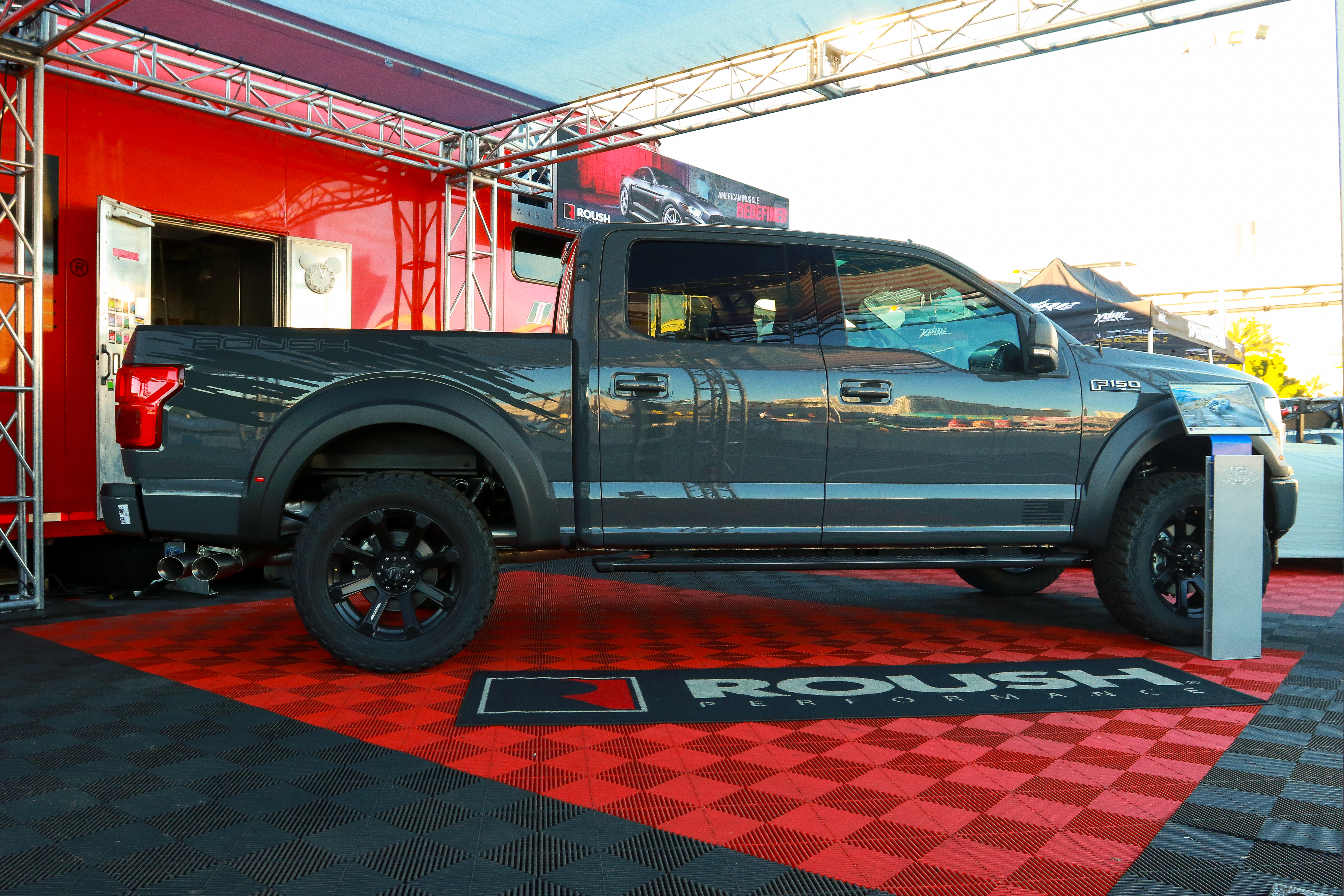 The F-150 SC makes for an impressive stance at the Roush booth. | Roush Performance photo