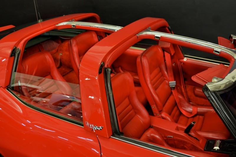 The builders continued the T-top design and the intense red interior. | NBS Auto Showroom photo