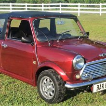 Unusual classic Mini convertible