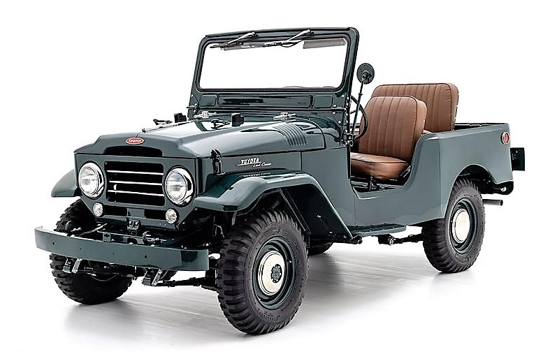 Early Toyota Land Cruiser FJ25 that has been fully restored