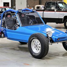 Stripped-down VW dune buggy