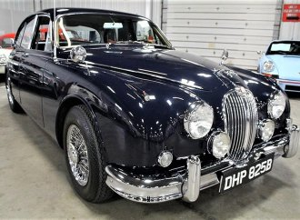Elegant, sporty Jaguar Mk II sedan