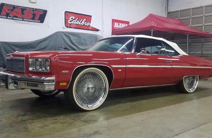 '75 Chevy Caprice convertible is stock, well, except for those 24-inch wheels
