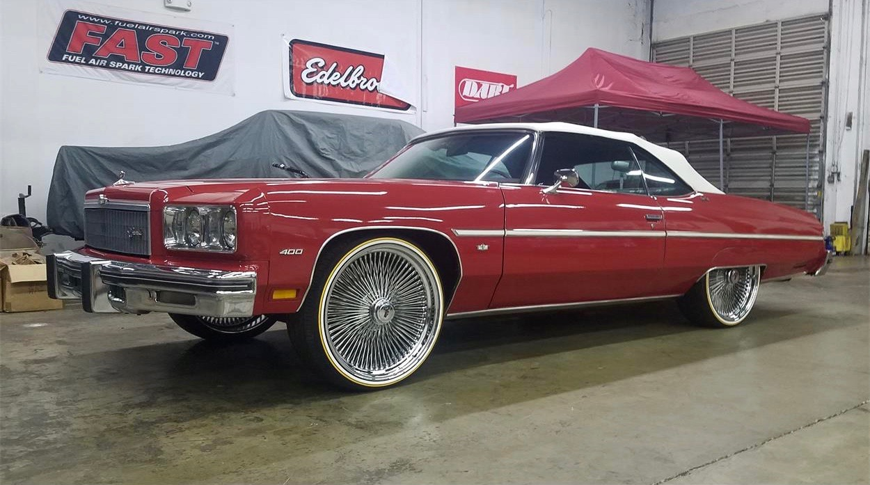 75 Chevy Caprice convertible is stock, except for those 24-inch rims