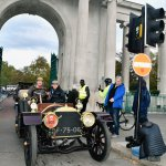 1901 Mercedes through the Arch #8597-Howard Koby photo