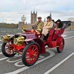1903 Panhard Et Levassor across Westminster Bridge #8605-Howard Koby photo