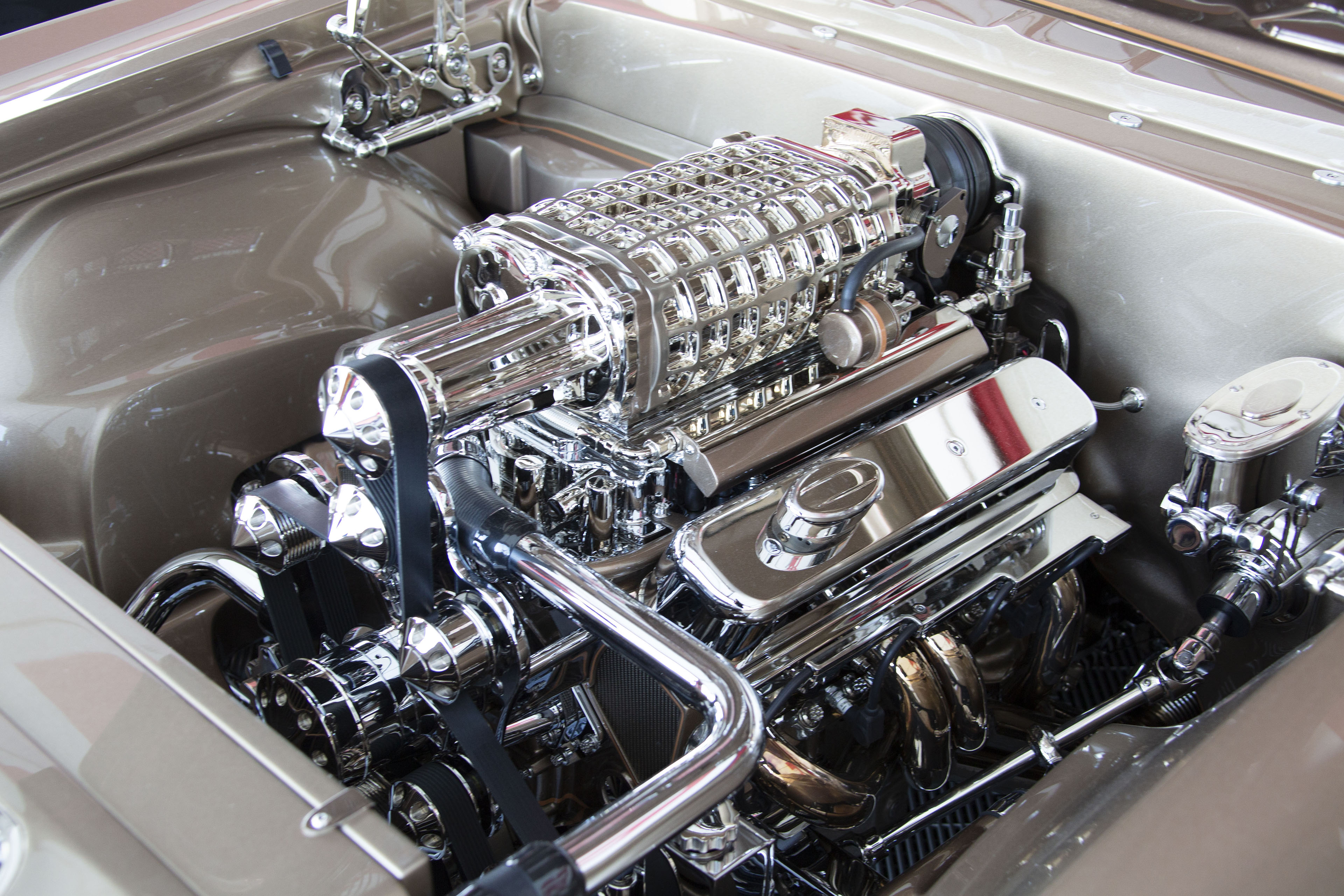 Even by SEMA standards, this engine is exceptionally clean. | Mothers photo