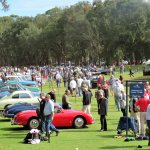 One area of the concours with the Porsche 70th anniverary class, American Cars of 1958, BMW 2002 and others.JPG