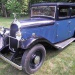 Blue Delahaye sedan main