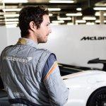 Bruno Senna wears the Sparco McLaren SP16plus race suit – back – McLaren 570S GT4