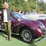 Carolyn Vanagel with 1937 Talbot-Lago T150 CSS