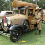 Donna and Thomas Fizgerald with their Model A 'camp car'