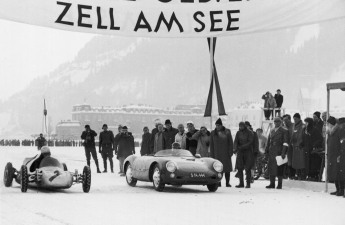 Ice races will feature Ferry Porsche's 550 Spyder