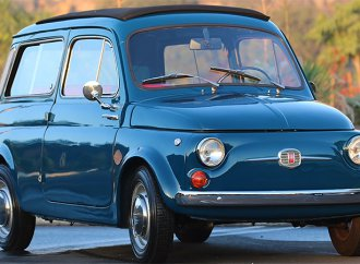 Icon adds electric powertrain to 1966 Fiat 500 Giardiniera Derelict