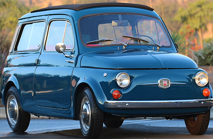 Icon has installed an electric powertrain in this 1966 Derelict Fiat 500 Giardiniera. | Screenshot
