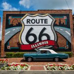 Route 66 can still be a big tourist draw. Plenty of car shows are held along it annually. | Illinois Office of Tourism photo by Adam Alexander