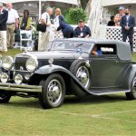 The 1931 Stutz DV32 LeBaron Convertible Victoria just before being named Best of Show