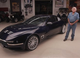 Jay Leno drives Touring Superleggera's Maserati-based Sciadipersia