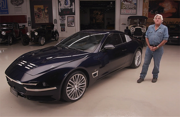 Jay Leno gets to drive Touring Superleggera's Maserati-based Sciadipersia. | Screenshot