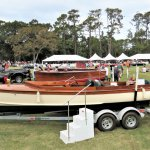 Vintage boats are a special feature at the concours