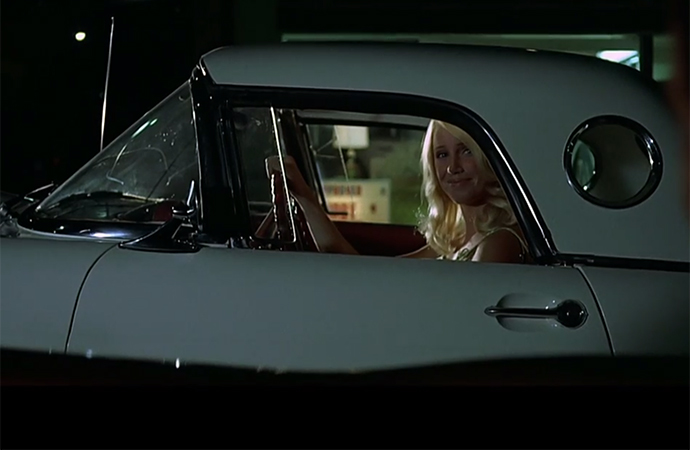 A young Suzanne Somers cruises in a 1955 Ford Thunderbird in <i>American Graffiti</i>. | Universal Pictures Screenshot