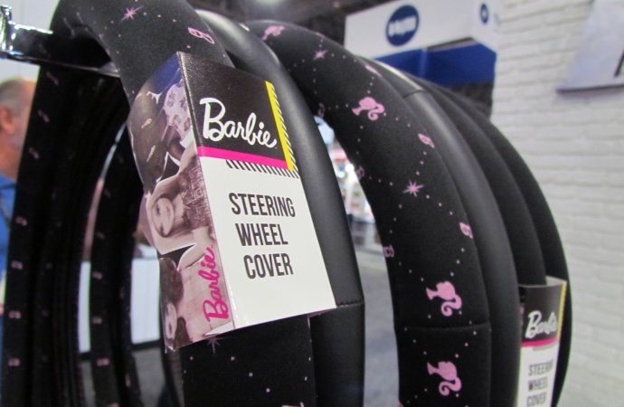 Steering wheel covers for grown-up Barbies are just the start