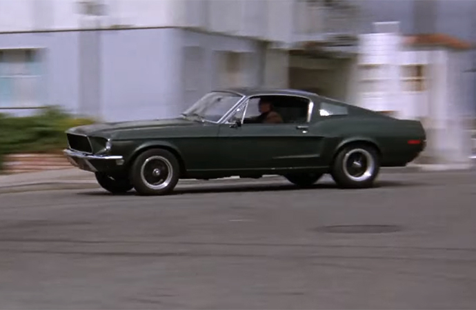 The Ford Mustang driven by Steve McQueen in <i>Bullitt</i> has inspired countless tributes. | Warner Brothers Screenshot