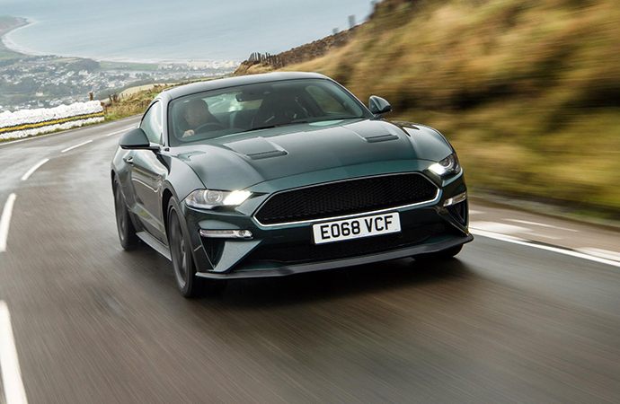 Journalist Steve Sutcliffe drives a Ford Mustang Bullitt on part of the Isle of Man TT course known as the Mountain Road. | Ford Motor Company photo