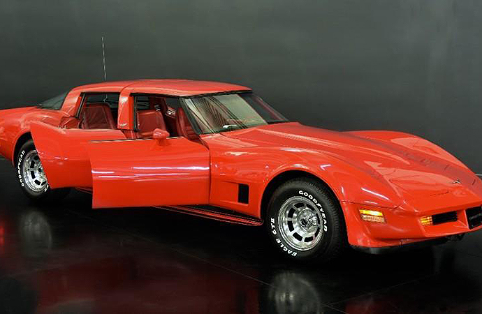 What? Check out this four-door 1980 Chevrolet Corvette