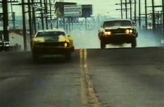 The 1974 film Gone in 60 Seconds may be one of the best car chase may be one of the best car chase movies ever. | H.B. Halicki Junkyard and Mercantile Company Screenshot