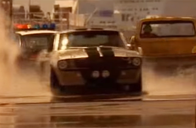 The Shelby GT500 in the 2000 remake of Gone in 60 Seconds makes for a great hero car. | Touchstone Pictures Screenshot