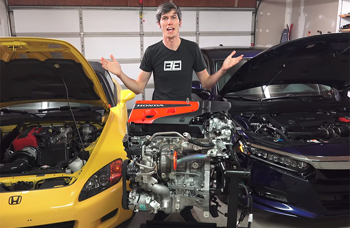 Jason Fenske shows exactly how VTEC works in the latest episode of Engineering Explained. | Screenshot