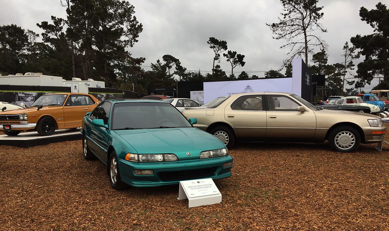 My Integra on display at Pebble Beach.