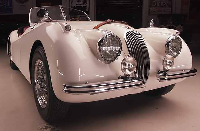 This Jaguar XK120 is the car that started a lifelong love of cars for Jay Leno. | Screenshot