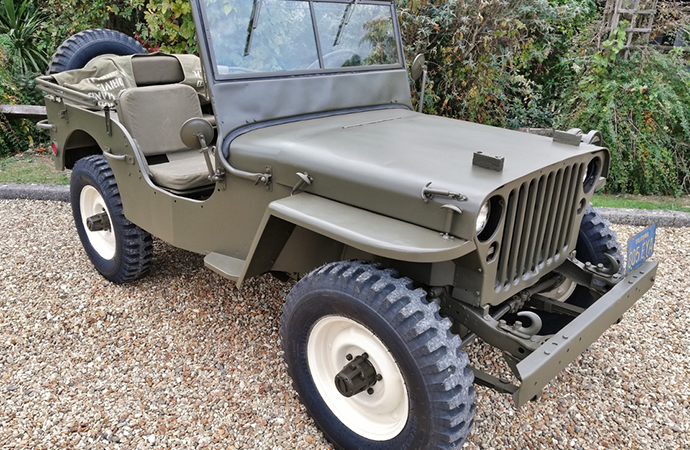 McQueen's Willys Jeep MB was a head-turner at the sale. | Silverstone Auctions photo