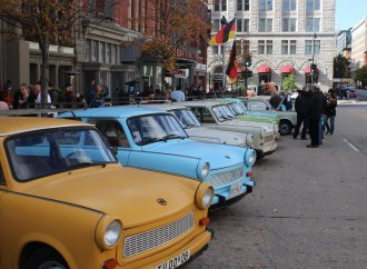 Trabant parade celebrates the fall of the wall