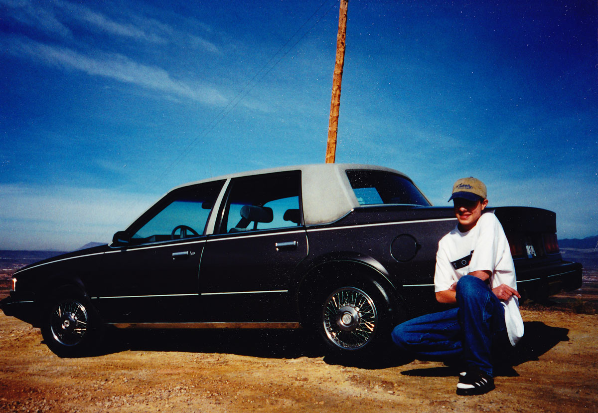 Me with my first car. It wasn't bad, but it wasn't an Acura.
